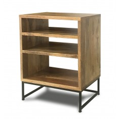Imari Industrial Mango Low Hi-Fi Shelving Unit
