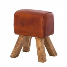 Turn buck Leather Stool