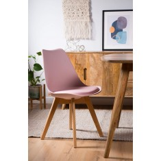 Scandi Pyramid Dining Chair With Pad - Pink