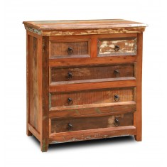 Reclaimed Indian 2+3 Chest Of Drawers