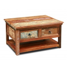 Reclaimed Indian 2-Drawer Coffee Table