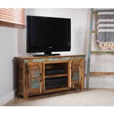 Reclaimed Indian Large Corner TV Unit
