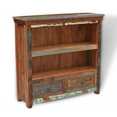 Reclaimed Indian Low Bookcase