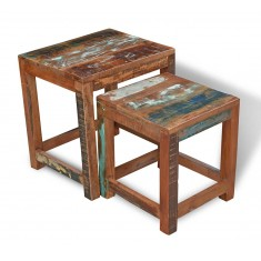 Reclaimed Indian Nest of 2 Tables