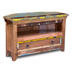 Reclaimed Indian Small Corner TV Unit