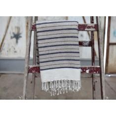 Etawah Stone & Navu Wool Throw - 140x200cm