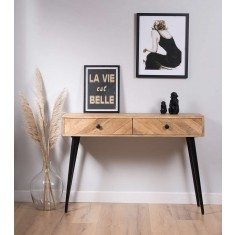 Urban Industrial Mango Console Table