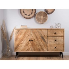 Urban Industrial Mango Large Sideboard