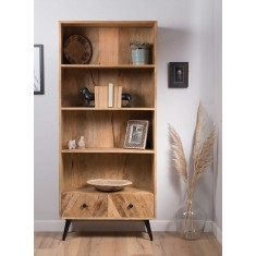 Urban Industrial  Mango Tall Bookcase