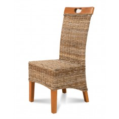 Vienna Kubu Rattan Dining Chair - Light Leg