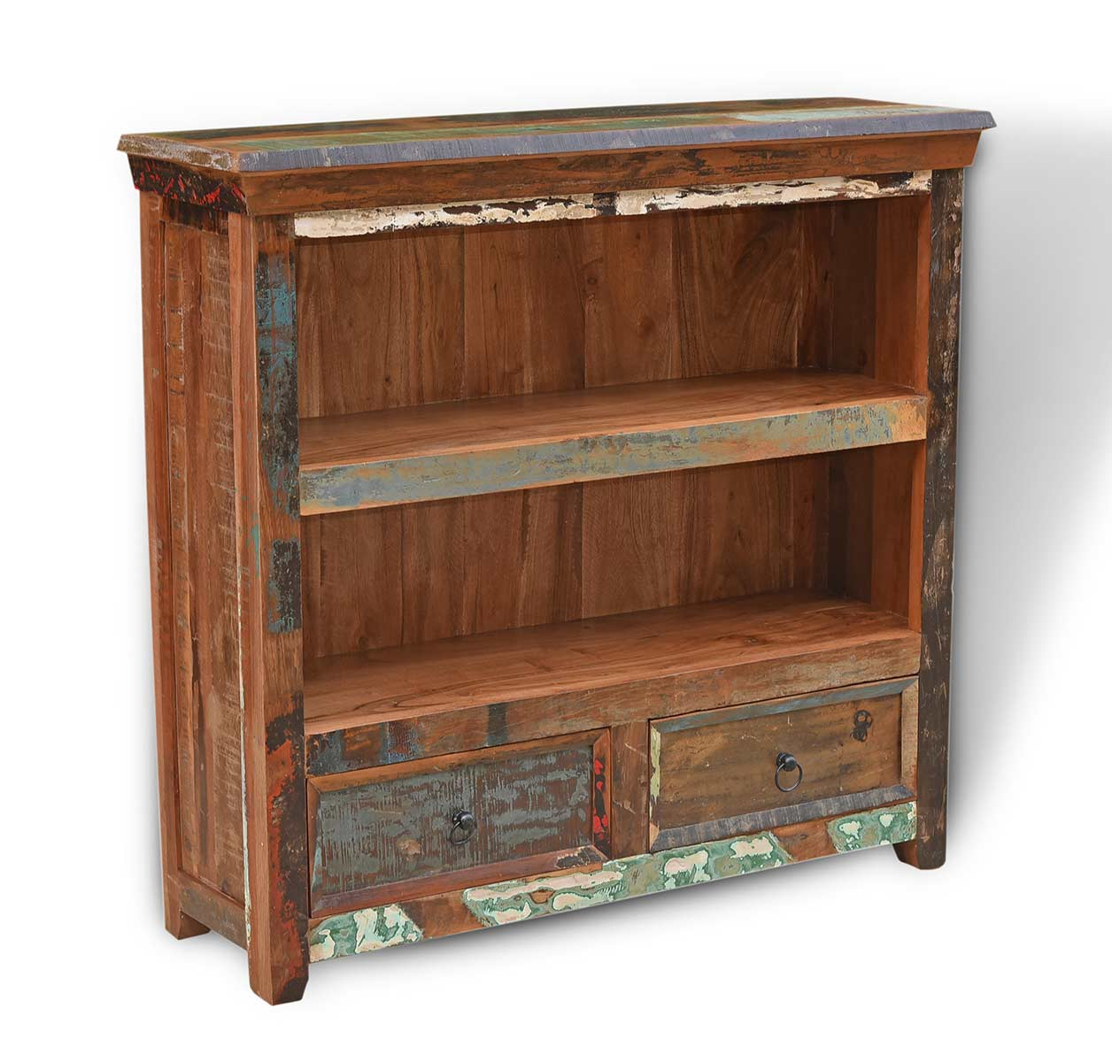 Details About Recycled Reclaimed Indian Wood Small Bookcase Bookshelves Solid Wood Furnitu